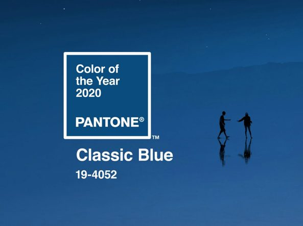 CLASSIC BLUE 19-4052 colore dell'anno 2020